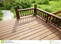 House Wooden Deck Wood Outdoor Backyard Patio In Garden ...