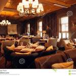 Interior Of A Modern Restaurant Classical Design By Day Stock Photo Image Of Empty Brown 105288812