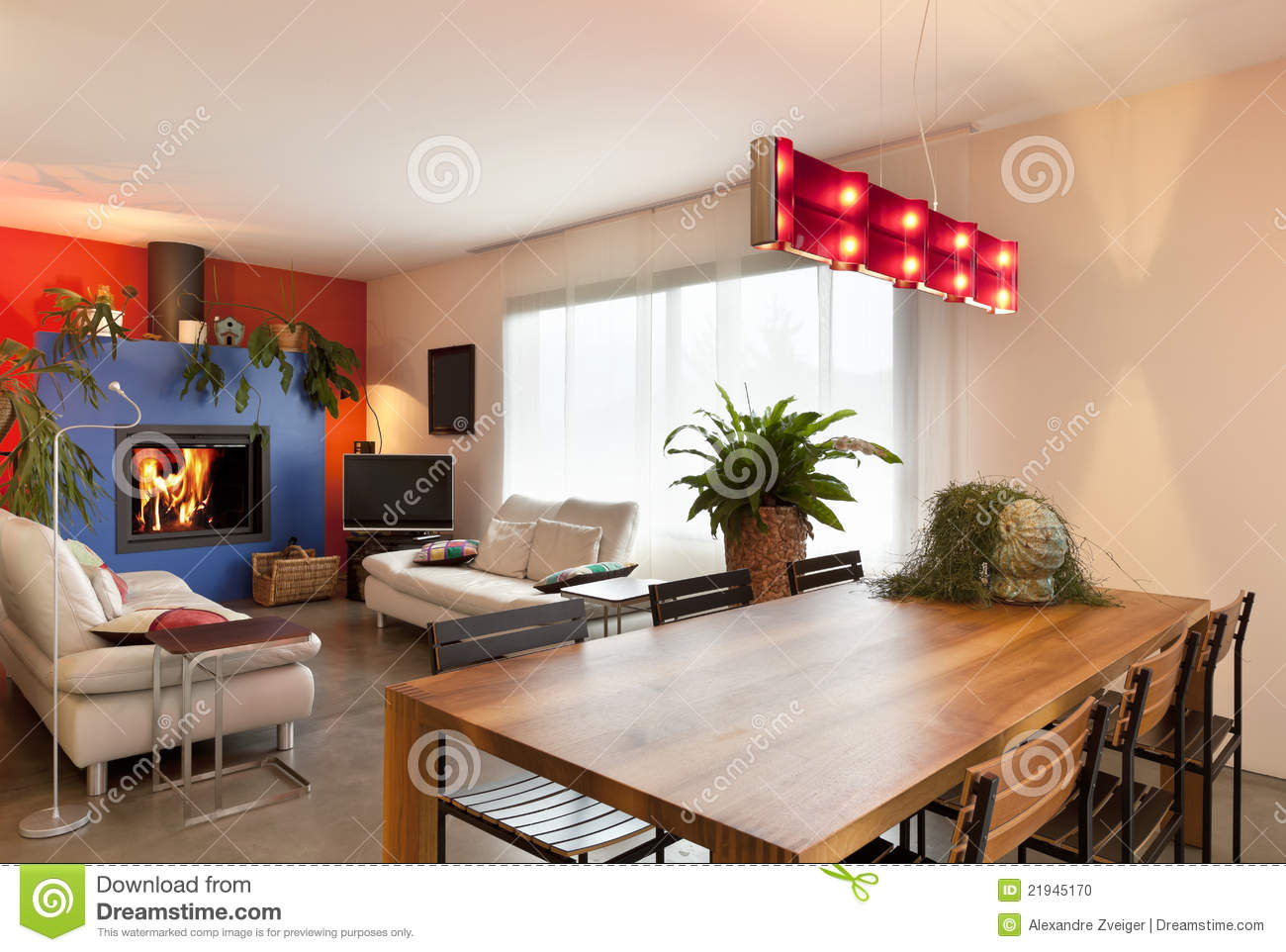 dining table in living room pictures target curtains wooden background stock photo image of comfortable modern apartment