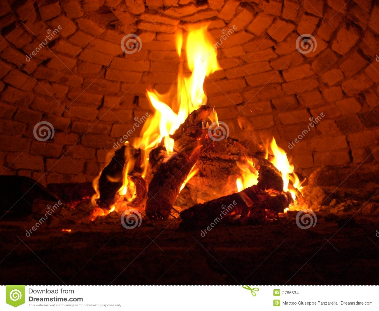 Wooden Fire Stock Images  Image 2766634
