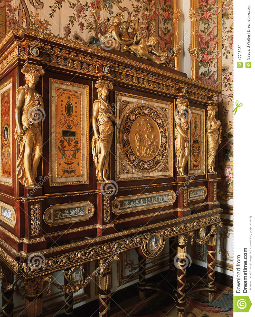 Muebles Versalles Wooden Furniture With Ornaments At Versailles Palace
