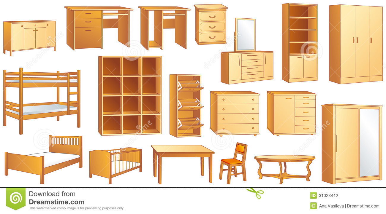 hight resolution of wood furniture clipart