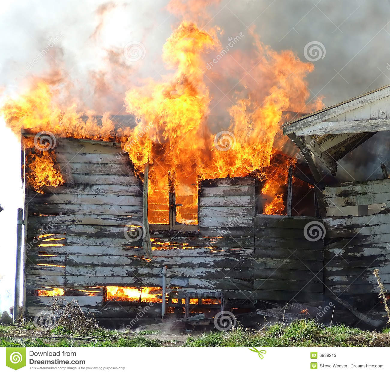 Wooden house on fire stock image Image of destroys