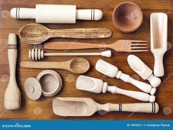 Wooden Kitchen Cooking Utensils