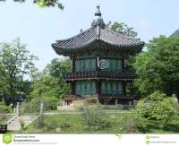 A Wooden Korean Pagoda Style Building In Seoul, South ...