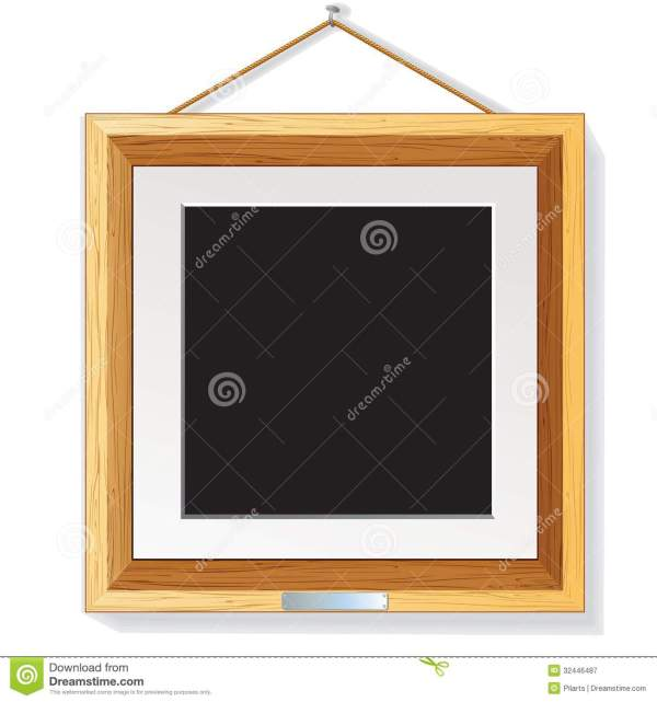 Picture Frames On Wall Illustration