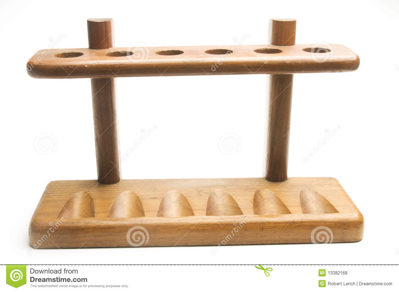 hanging chair stand only wooden pipe rack royalty free stock photos - image: 13382168