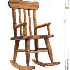 White Wood Rocking Chair Chairscape Wooden Stock Image Of Object Seat