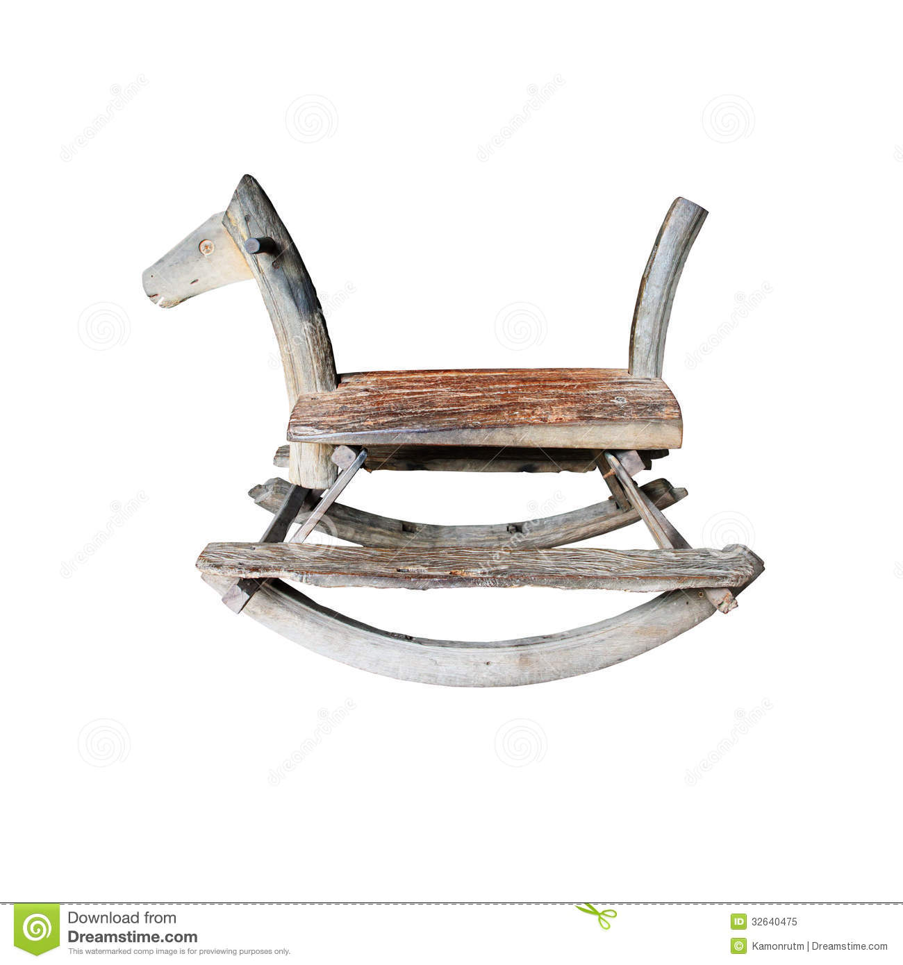 horseshoe rocking chair chaise lounge chairs for outside wooden horse royalty free stock photo