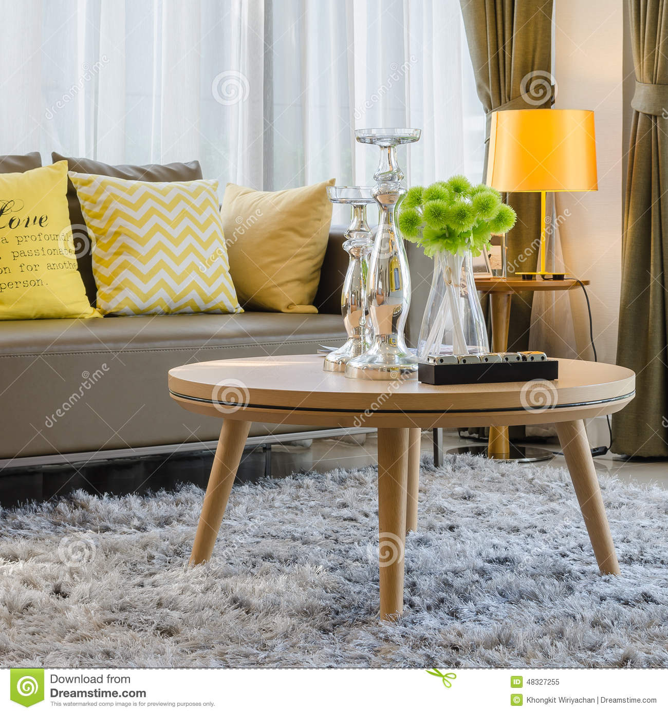living room round table beautiful rooms images wooden on carpet in stock image of