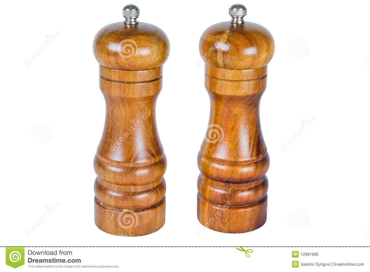 Wooden Salt And Pepper Shakers Stock Image Image 12991685
