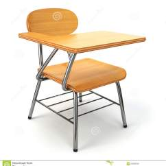 White Wooden Chair For Desk Cheap Salon Chairs School And On Stock Illustration
