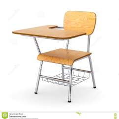 White Wooden Chair For Desk Plastic Chairs Covers School Stock Image Of Class Knowledge