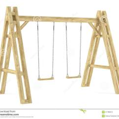 Swing Chair Game Tied To Wooden Isolated Stock Photos - Image: 37780813