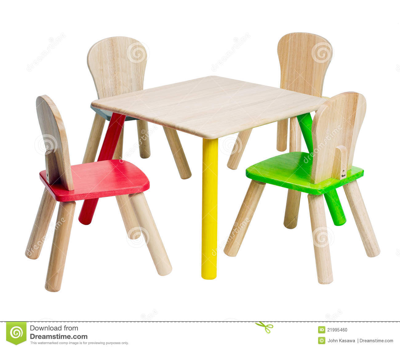 Toddler Wooden Chair Wooden Table And Chairs Toys For Kid Stock Photo Image Of Cube