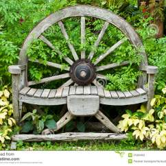 Wagon Wheel Chair Round With Ottoman Wooden Stock Photo Image Of Living
