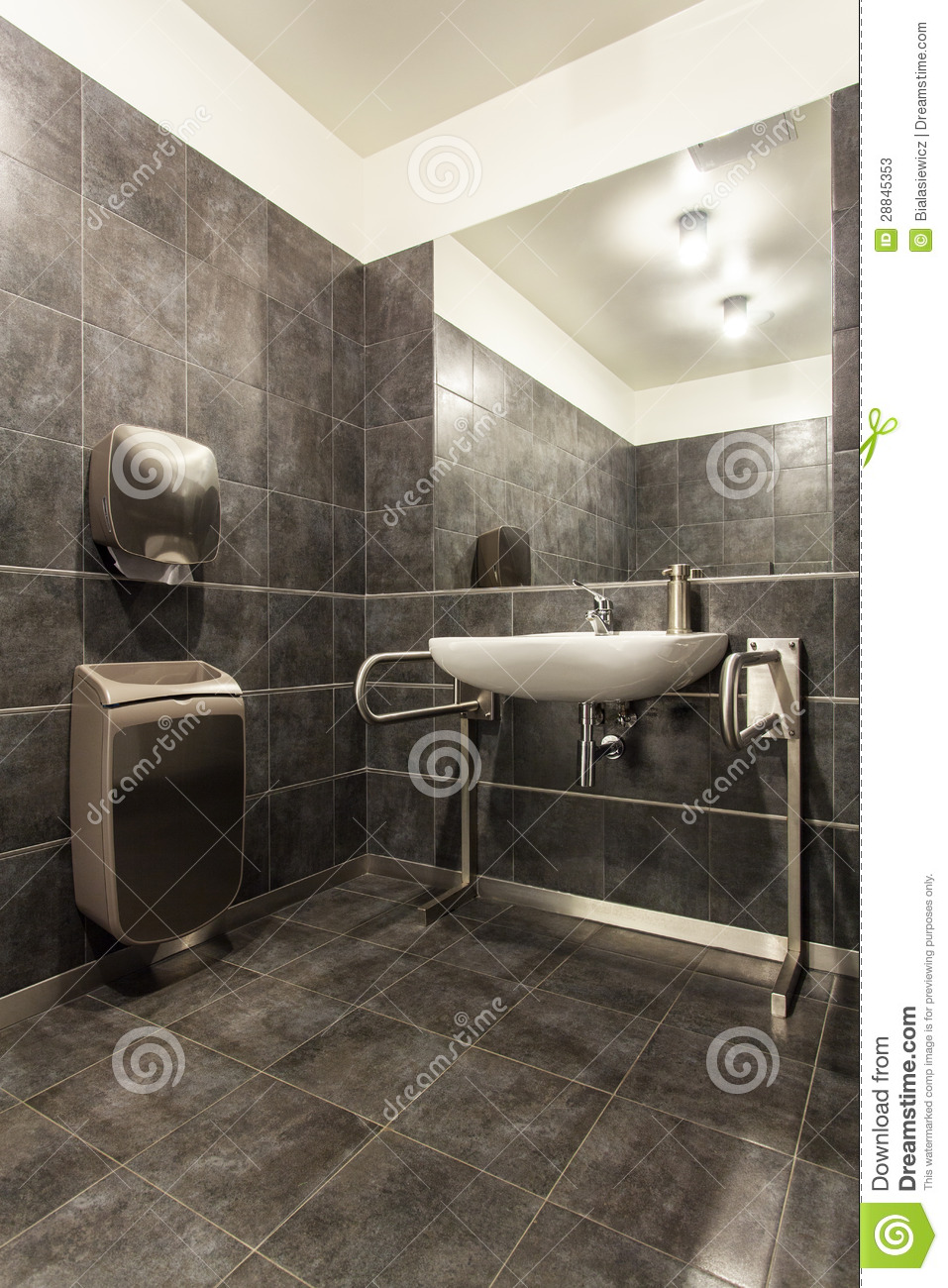 Woodland Hotel  Bathroom For The Disabled Stock Image