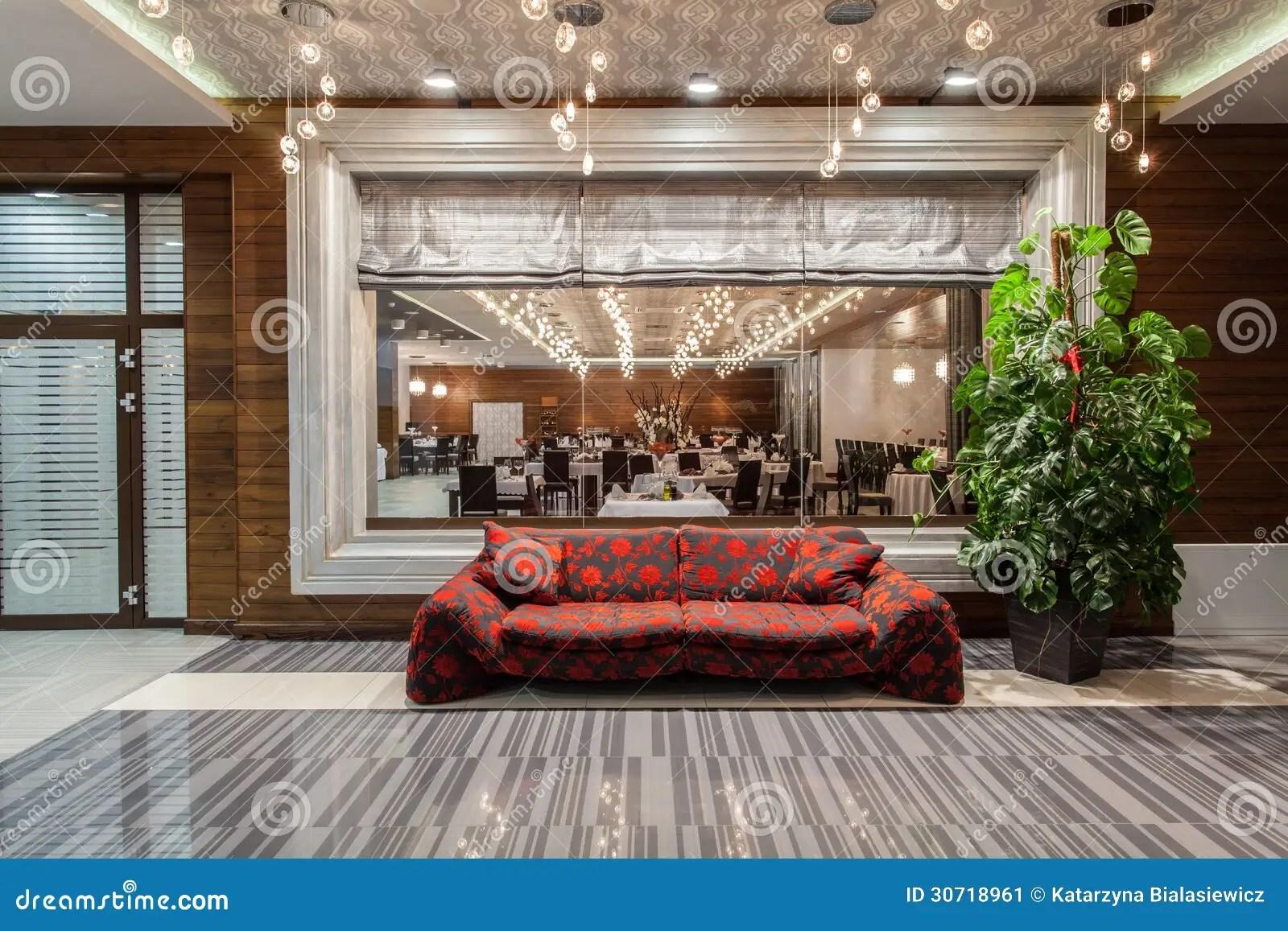 red sofa cafe baku west elm henry pull down sleeper woodland hotel decorative stock image 30718961
