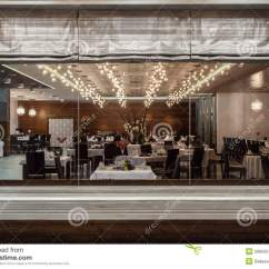 White Dining Room Table And 6 Chairs Leather Sleeper Chair Woodland Hotel - Restaurant Royalty Free Stock Images Image: 29859519
