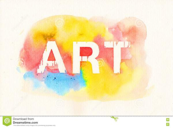 Word Art On Water Color Background Stock Illustration