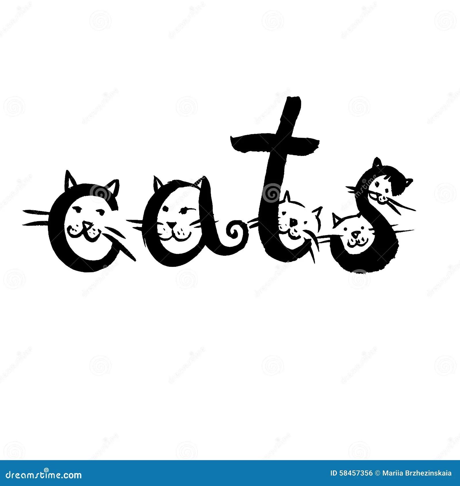Word Cats Stock Vector