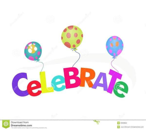 Word Celebrate With Balloons Illustration Stock