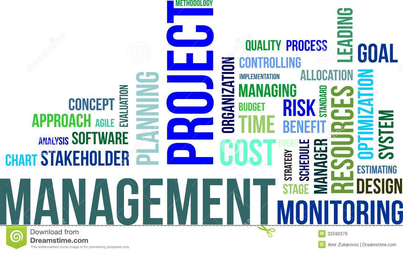 Word Cloud  Project Management Stock Vector