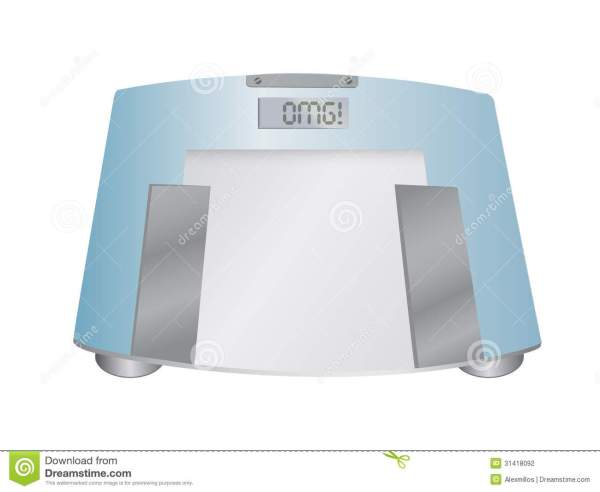 The Word OMG On A Weight Scale Illustration Stock