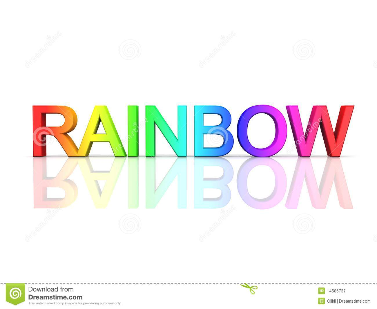 The Word Rainbow In Rainbow Colors Stock Illustration