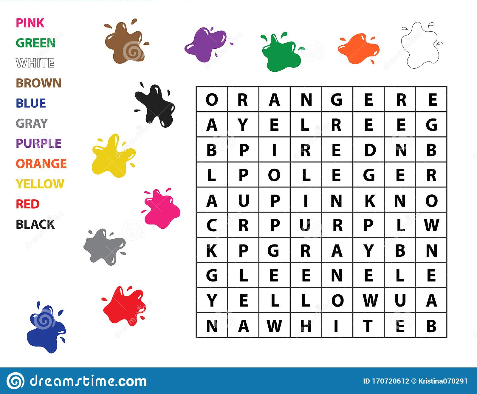 Word Search For Kids Learn English Vocabulary Study