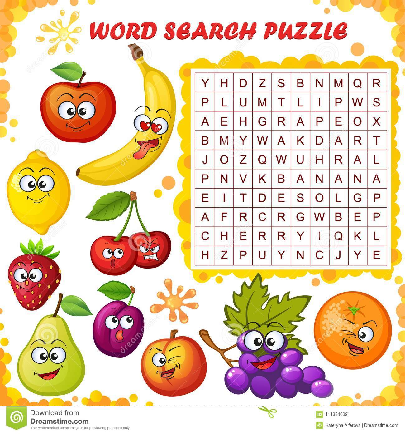 Word Search Puzzle Vector Education Game For Children