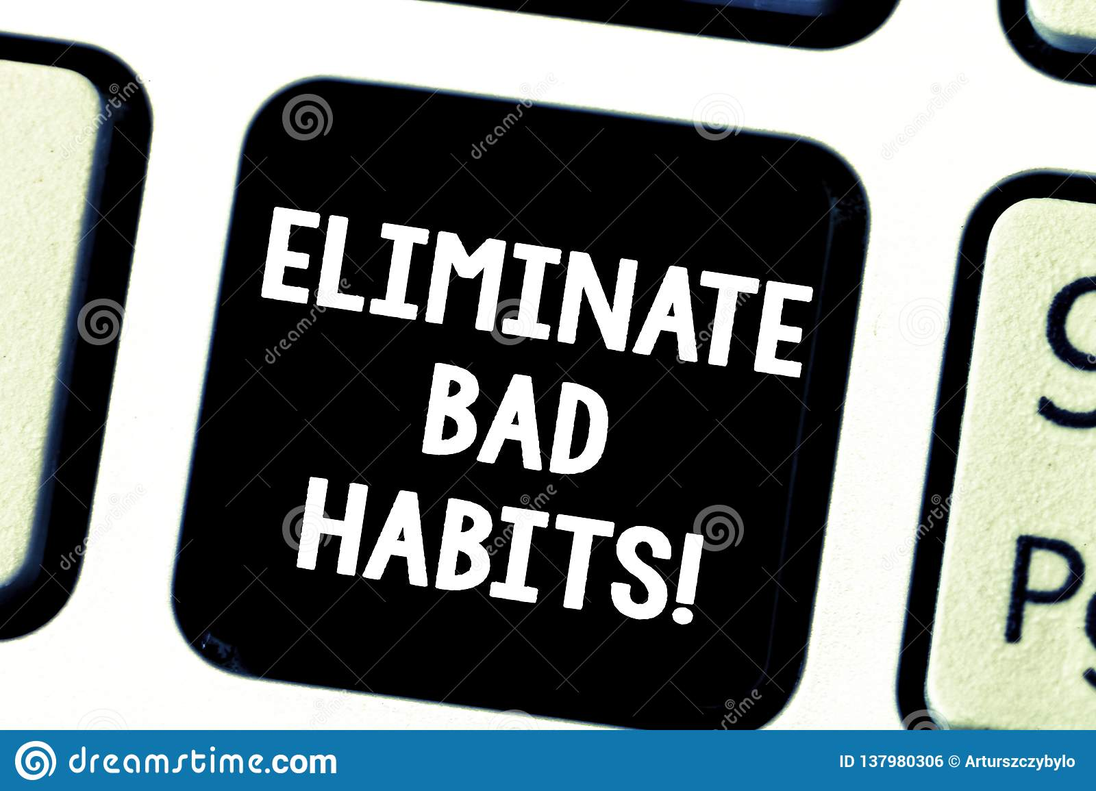 Word Writing Text Eliminate Bad Habits Business Concept