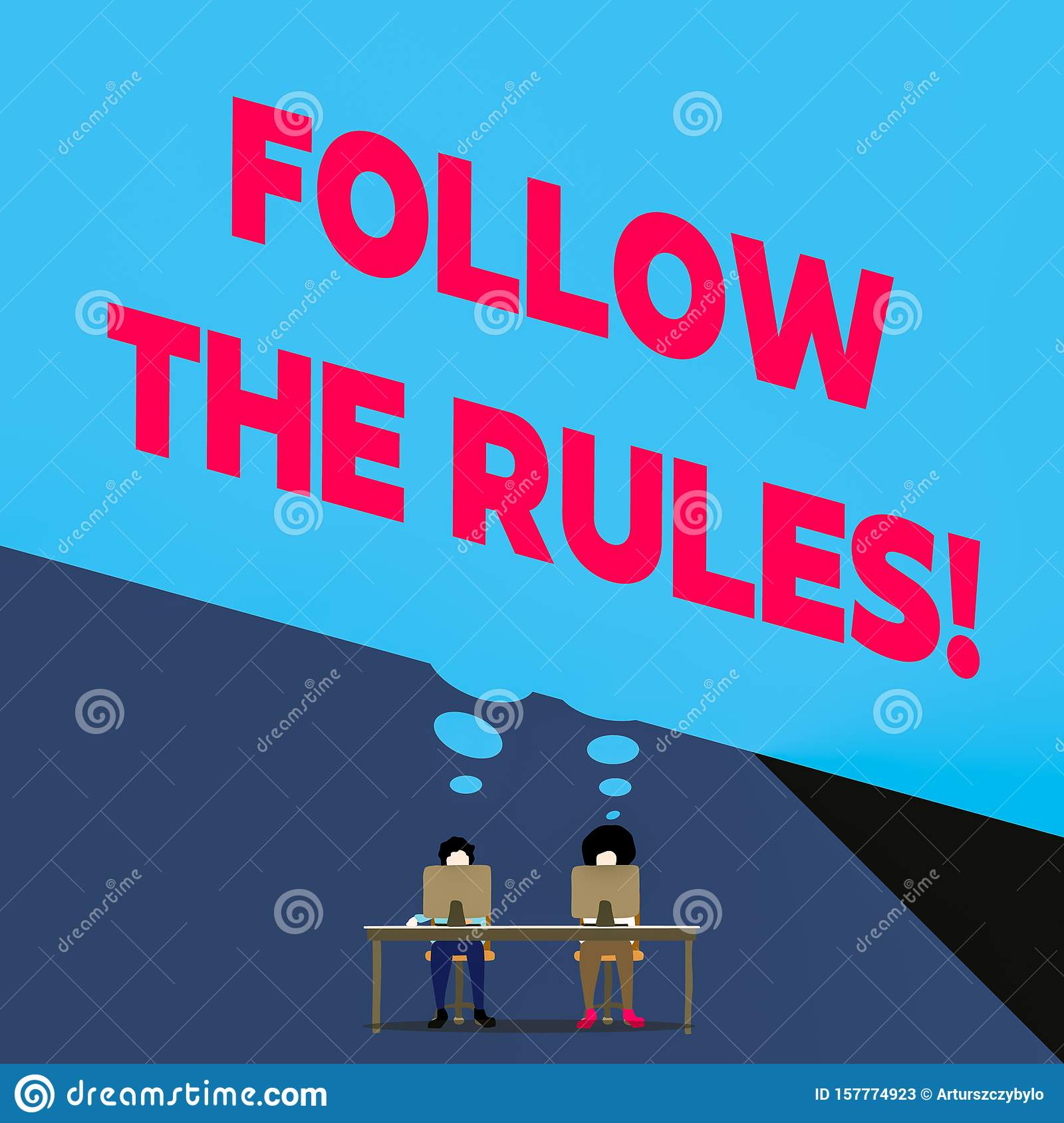 Word Writing Text Follow The Rules Business Concept For