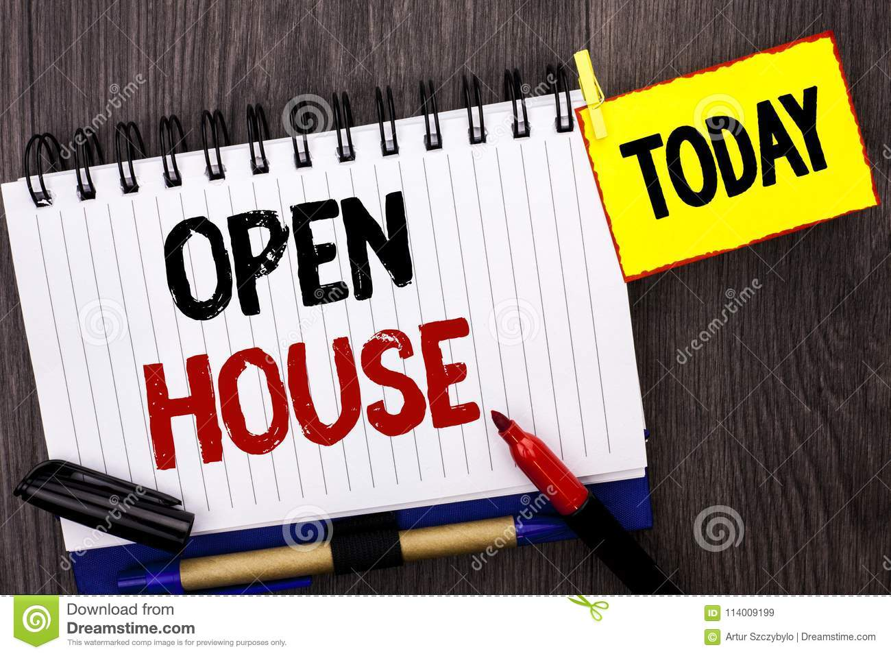 Word Writing Text Open House Business Concept For Home