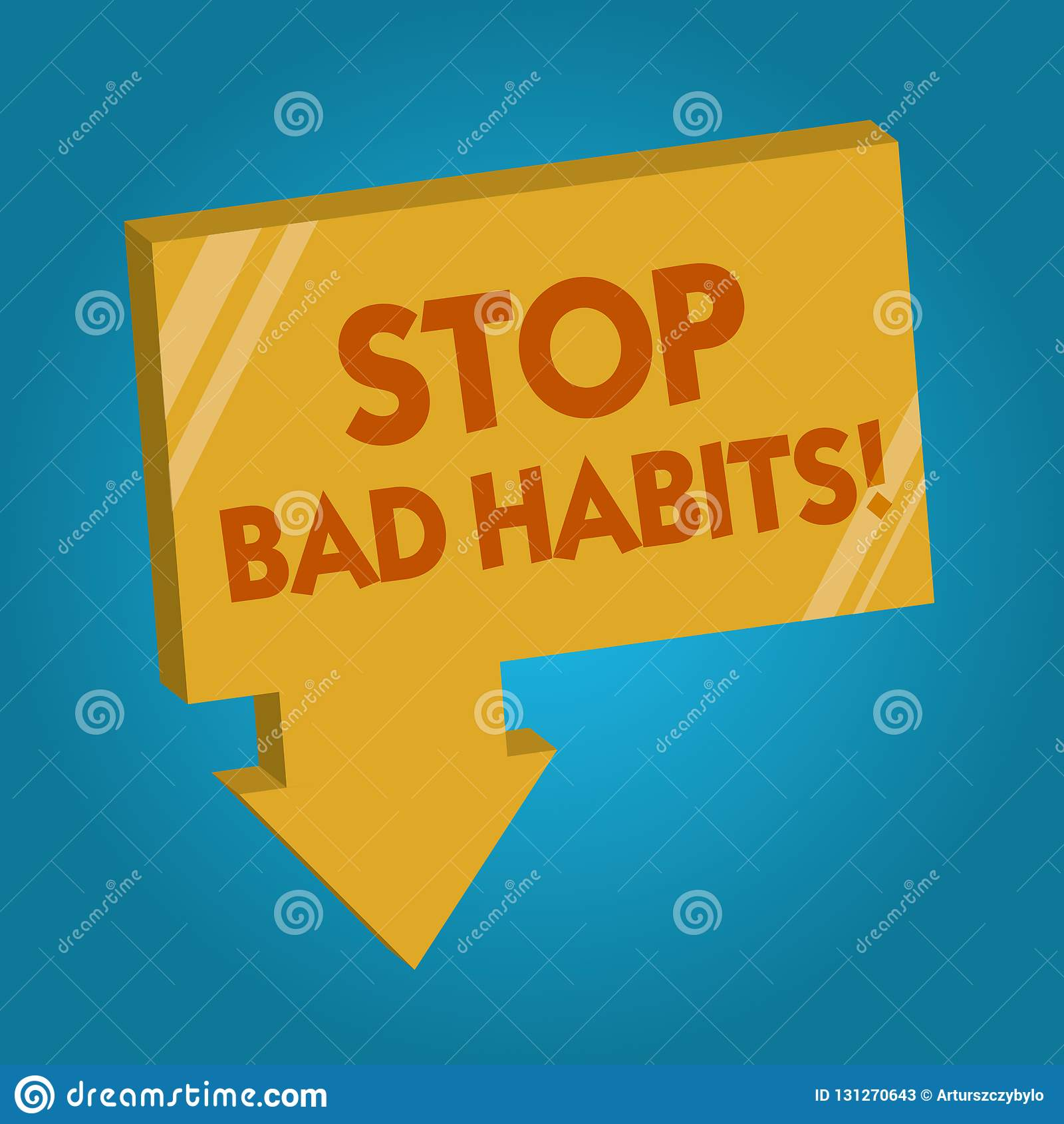 Word Writing Text Stop Bad Habits Business Concept For
