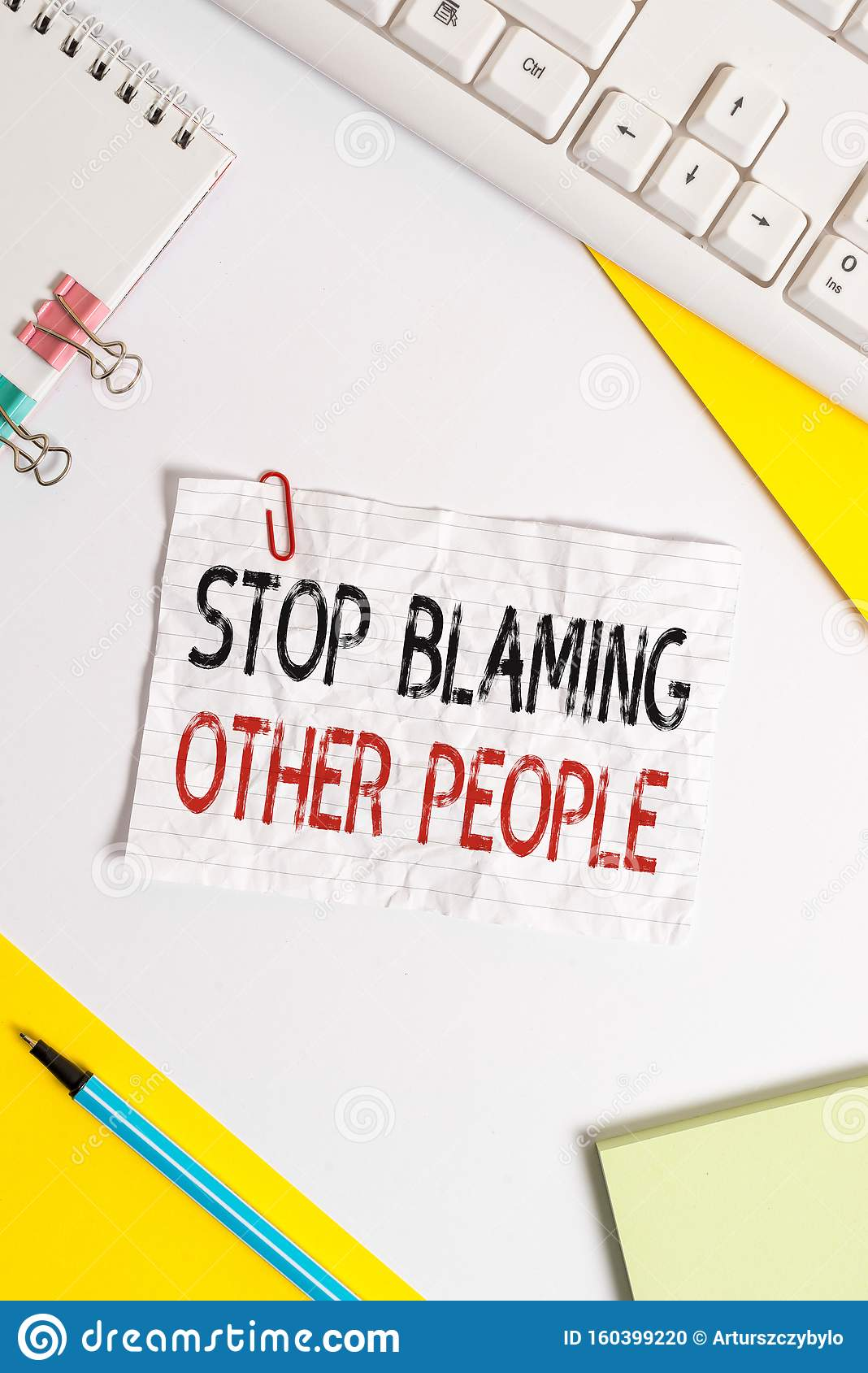 Word Writing Text Stop Blaming Other People. Business Concept For Do Not Make Excuses Assume Your Faults Guilt Flat Lay Stock Photo - Image of ...