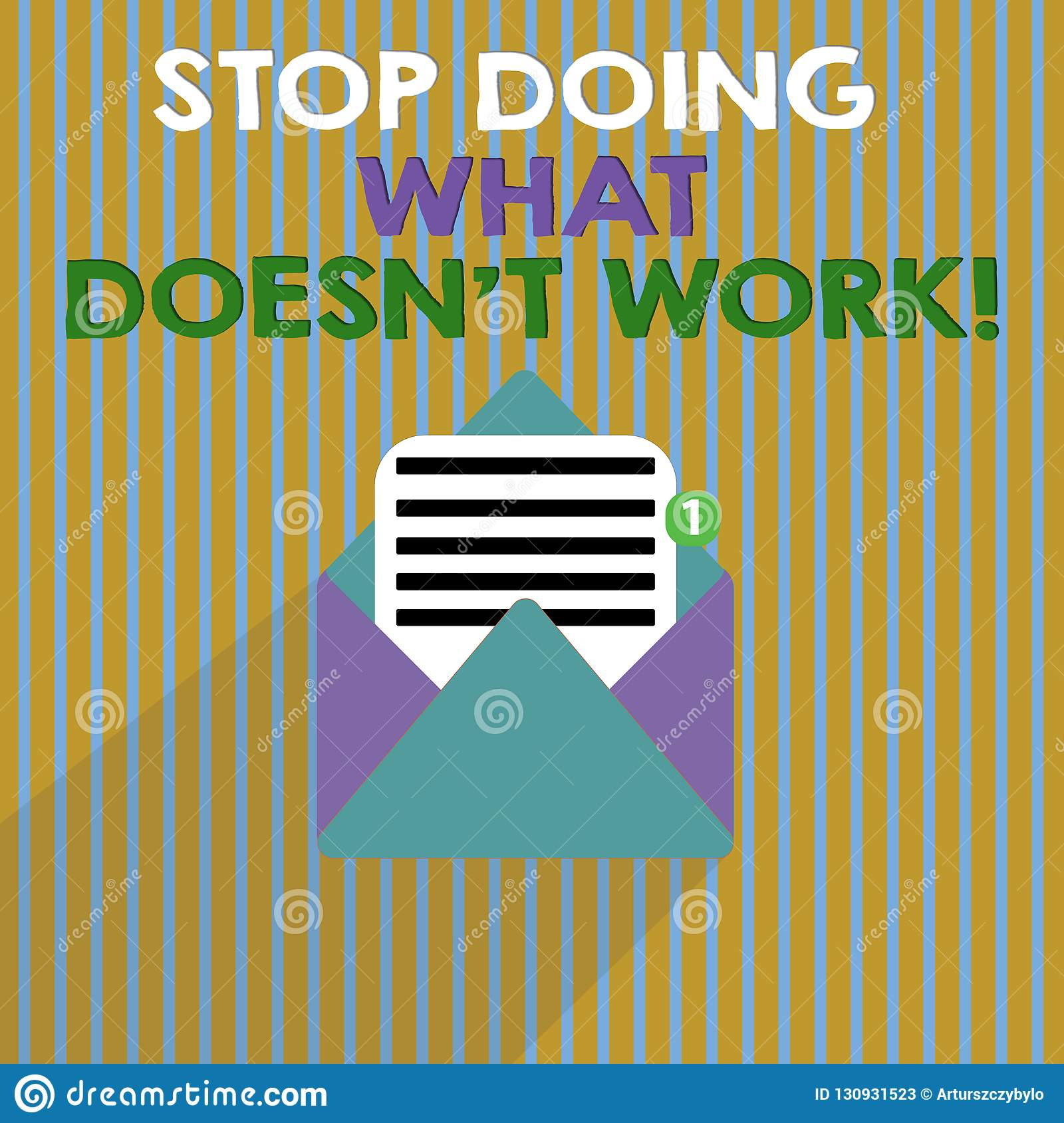 Word Writing Text Stop Doing What Doesn T Not Work. Business Concept For Busy Does Not Always Mean Being Productive Stock Illustration ...