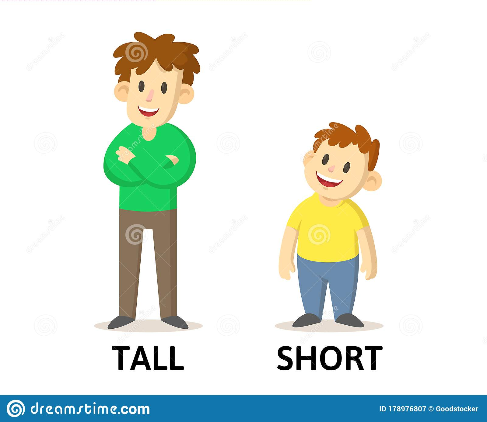 Cartoon Tall Short Kids Stock Illustrations 32 Cartoon