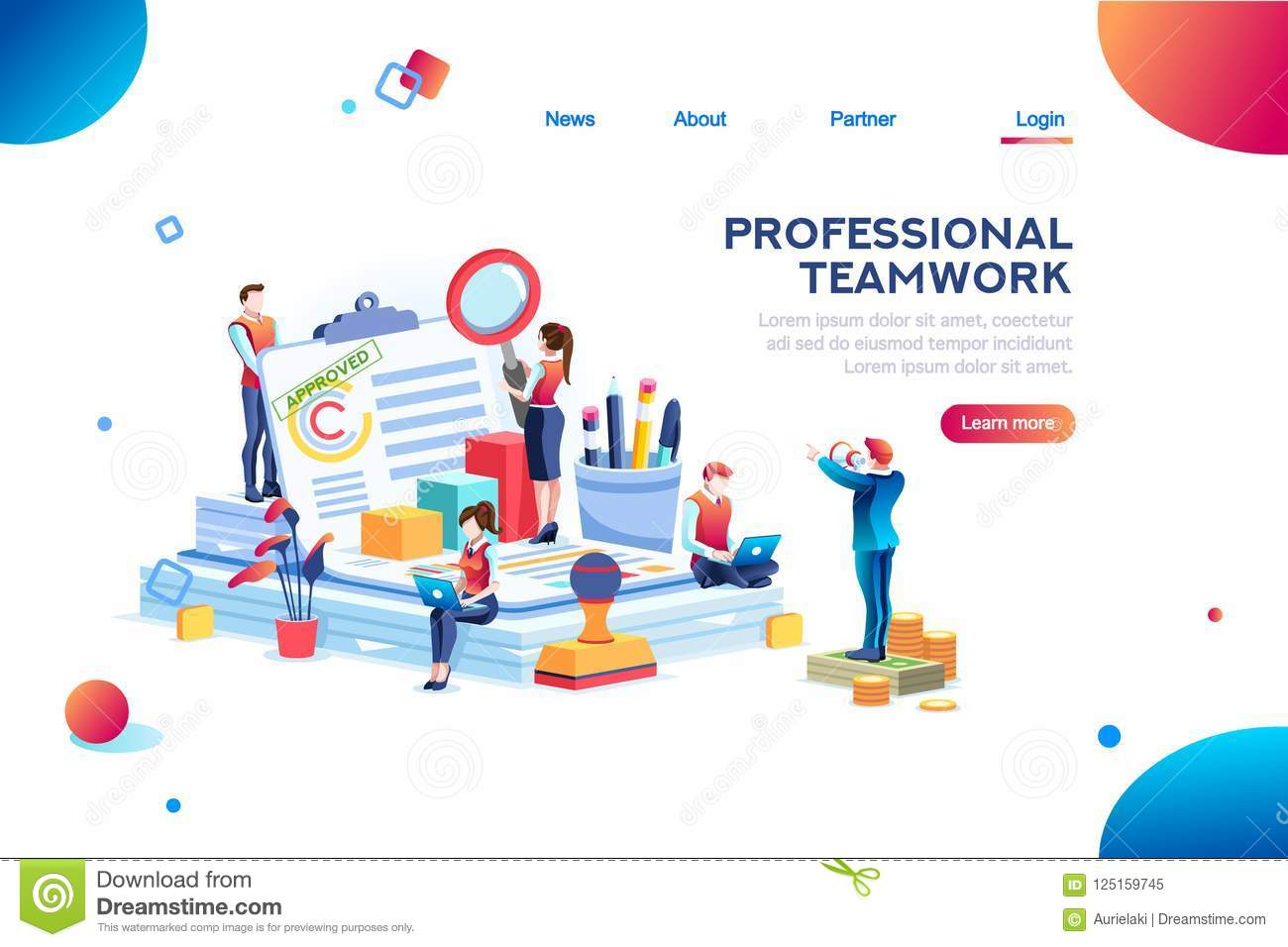 work at office document
