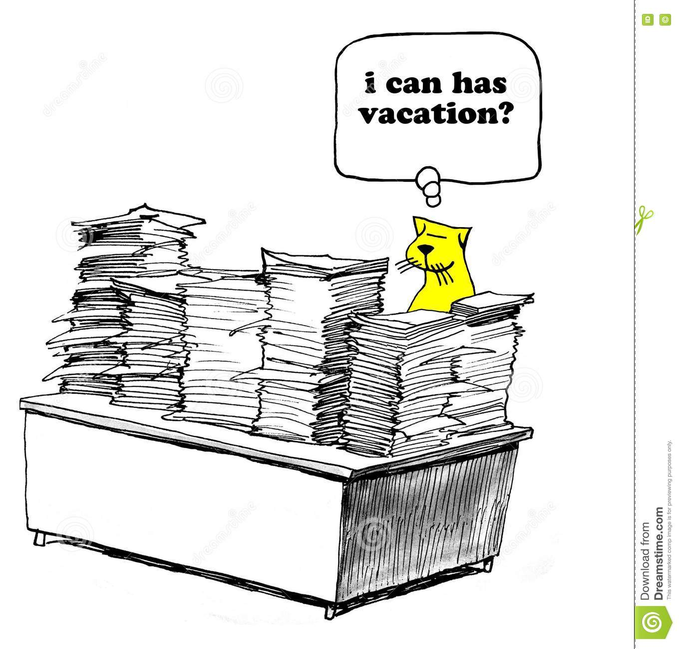 Work Versus Vacation Stock Illustration Illustration Of