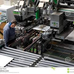 Steel Chair Manufacturing Process Swing Amazon India Worker In Automatic Furniture Factory Editorial Image