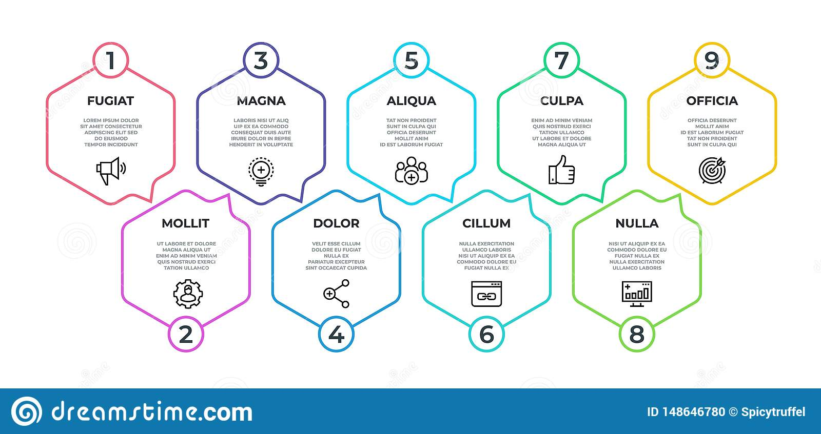 workflow infographic 9 step