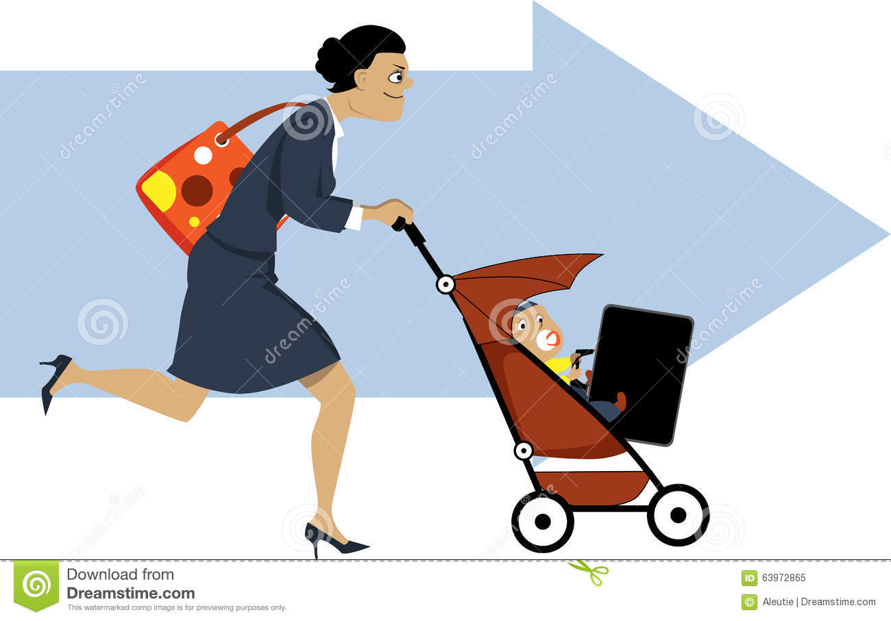 Working Mother Stock Vector  Image 63972865