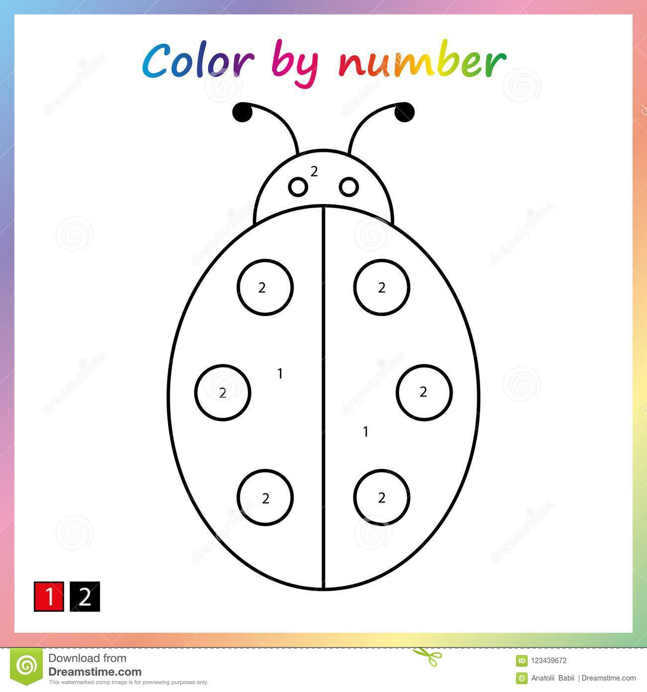 Paint Worksheet Preschool