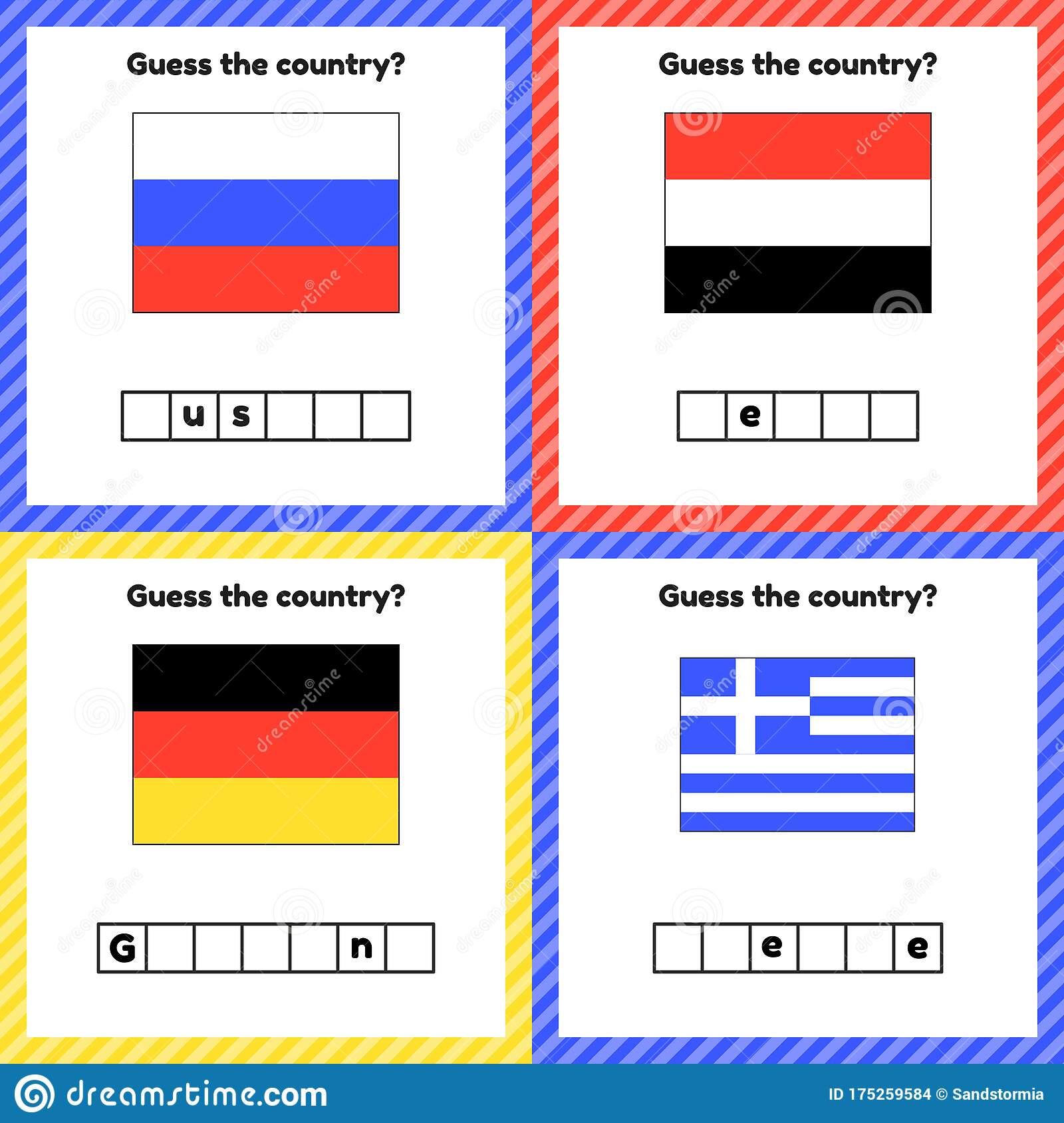 Worksheet On Geography For Preschool And School Kids Set