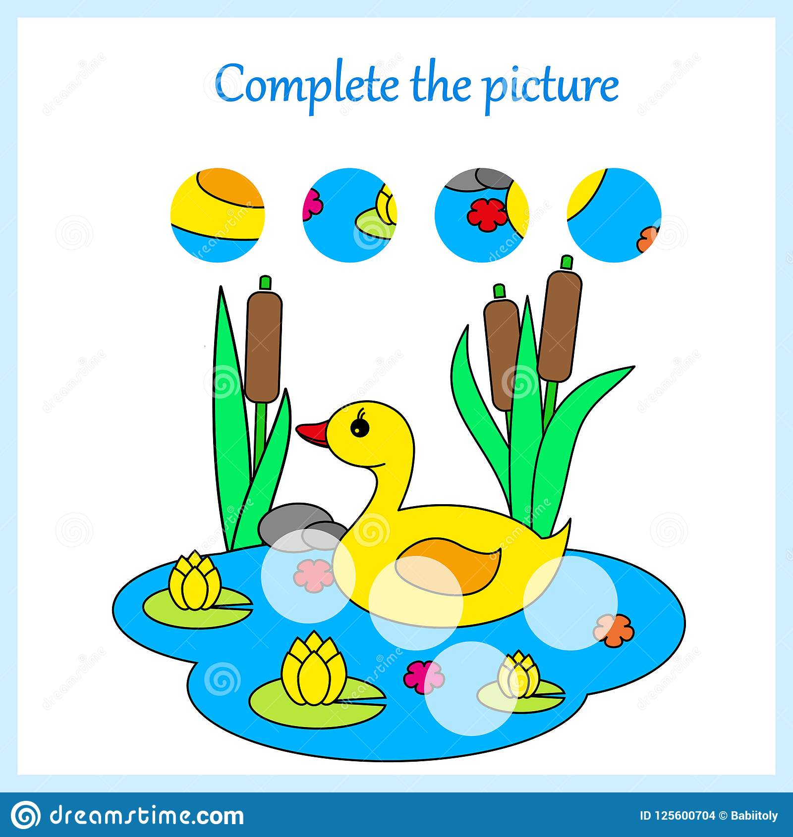 Worksheet For Kids Complete The Picture Game For