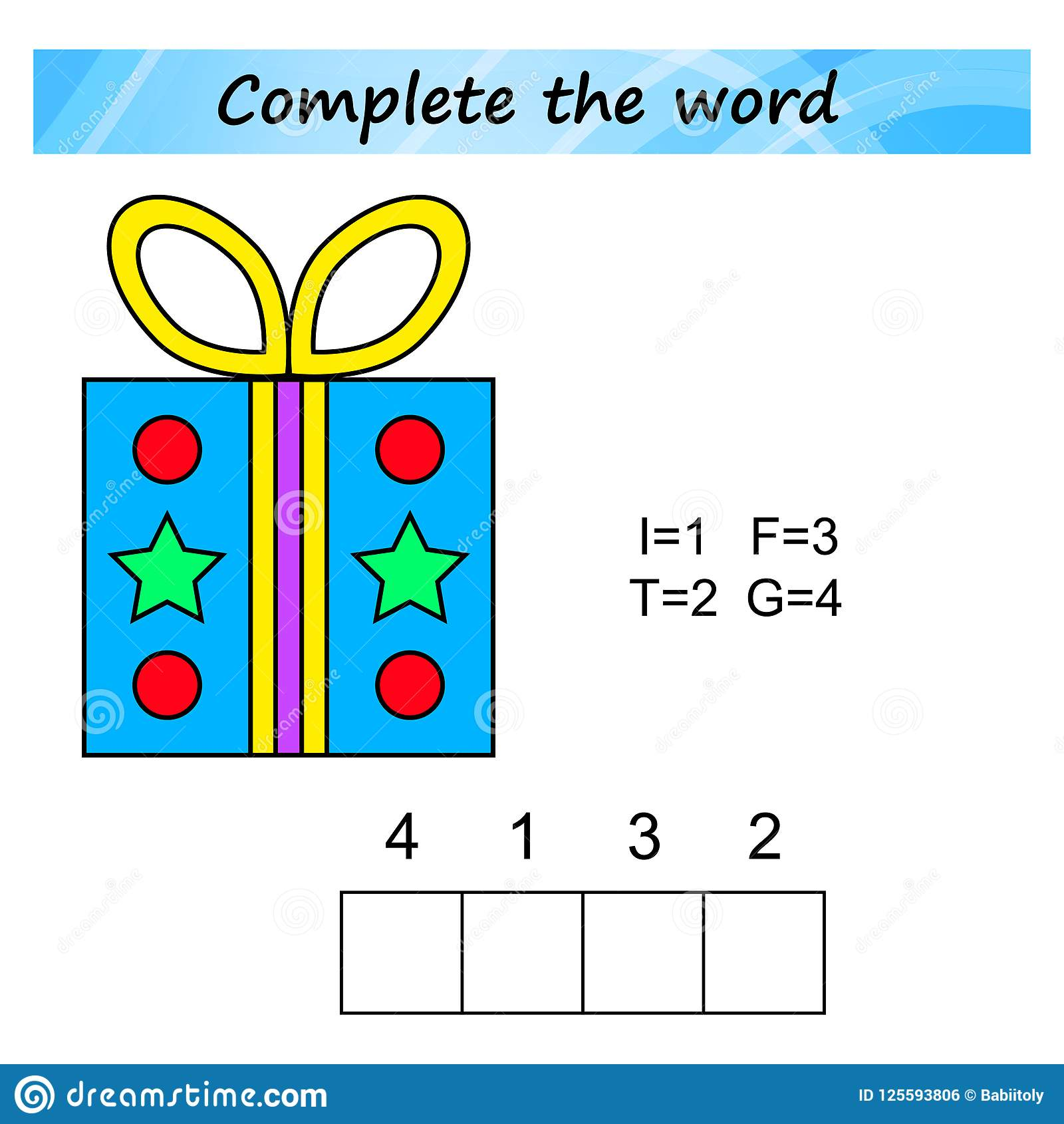 Worksheet For Kids Words Puzzle Educational Game For