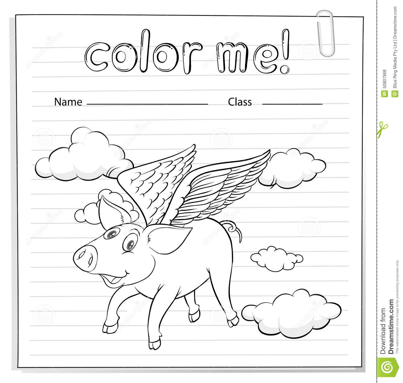 Worksheet With A Pig Stock Vector Illustration Of Angles