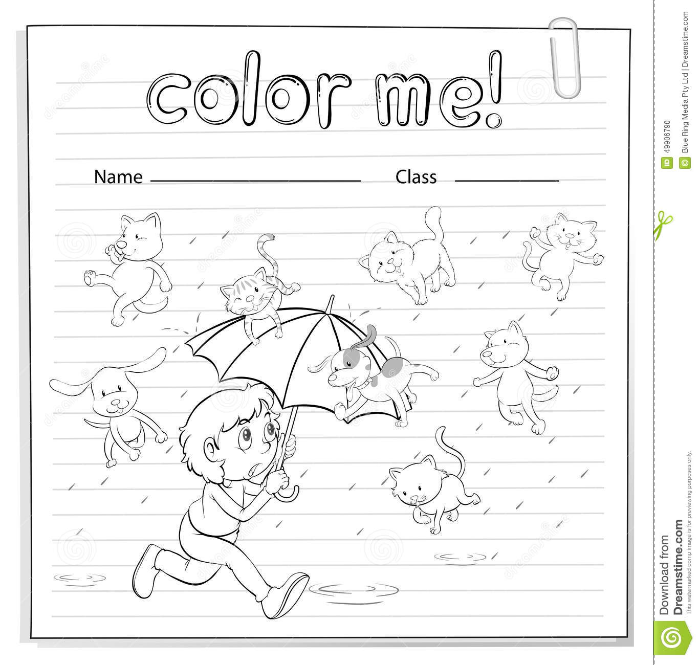 Rain Worksheet For Preschool