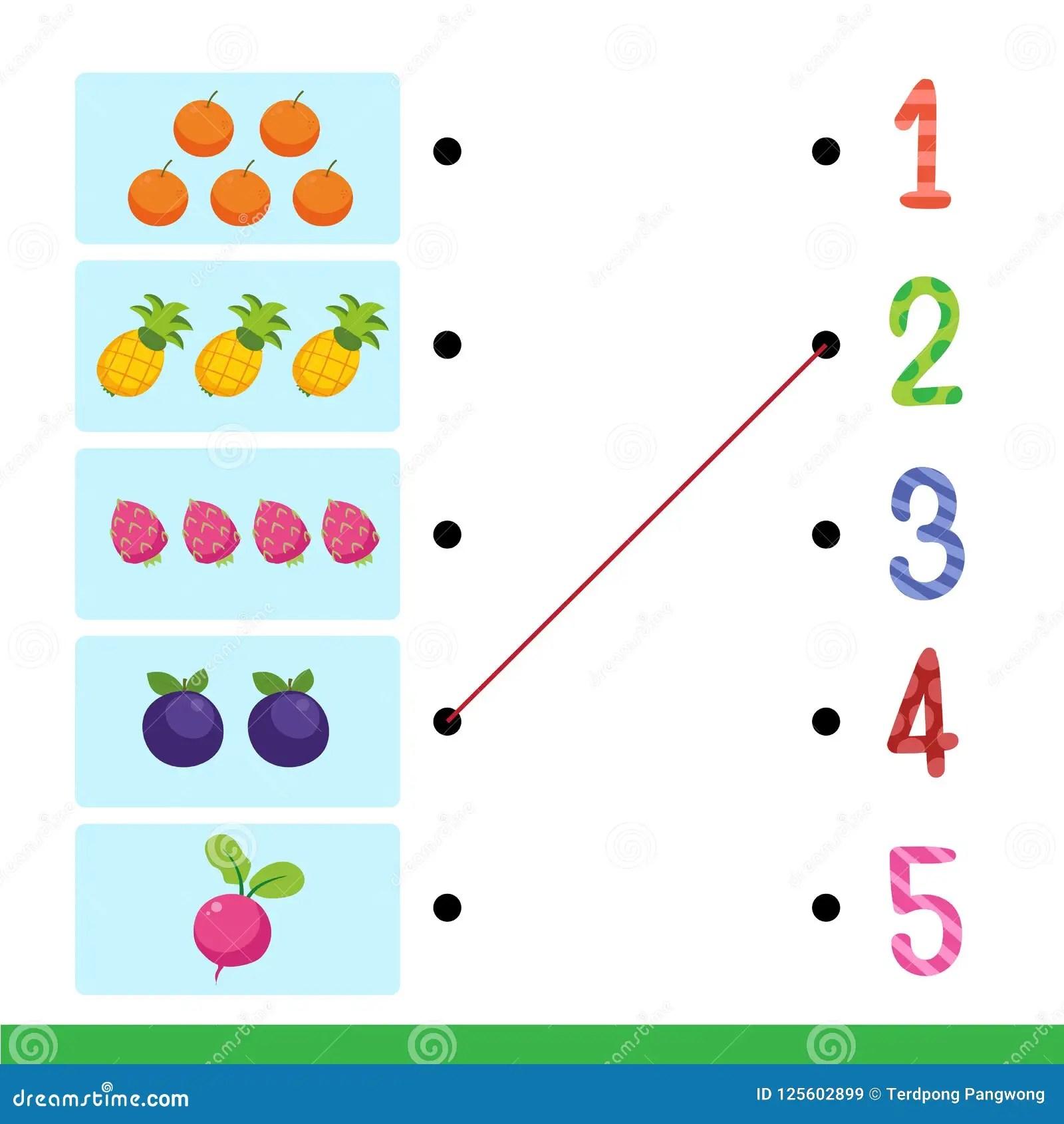 Worksheet Vector Design For Kid Stock Vector